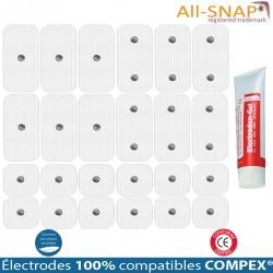 Pack 9 Jeux Électrodes Compatibles COMPEX Snap + 1 Gel