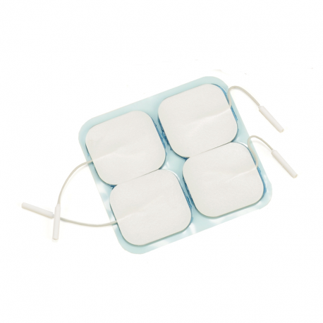 Electrodes Argent hypoallergéniques taille 5 x 5 cm