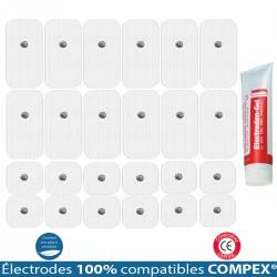 Pack 6 Jeux Électrodes Compatibles COMPEX Snap + 1 Gel