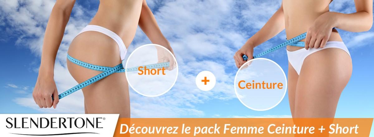 Slendertone Pack Short +Ceinture Femme
